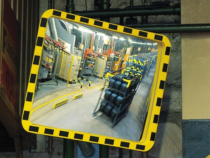 kollane-must tööstuslikpeegel